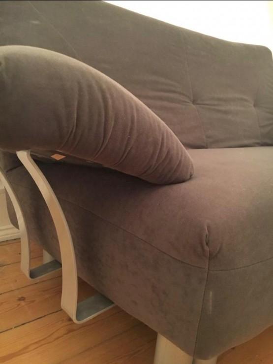 Ich verschenke ein 2 Personen Sofa in braun zu verschenken