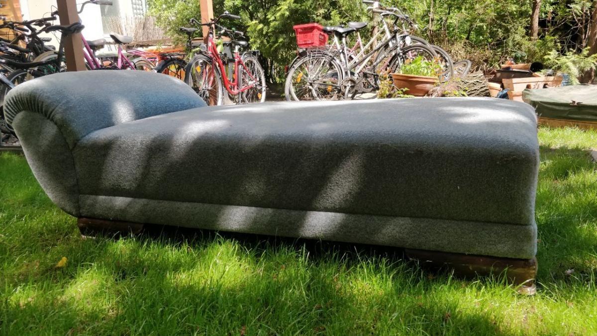Chaiselongue Blau Gemütlich Couch Sofa Liege Zu Verschenken