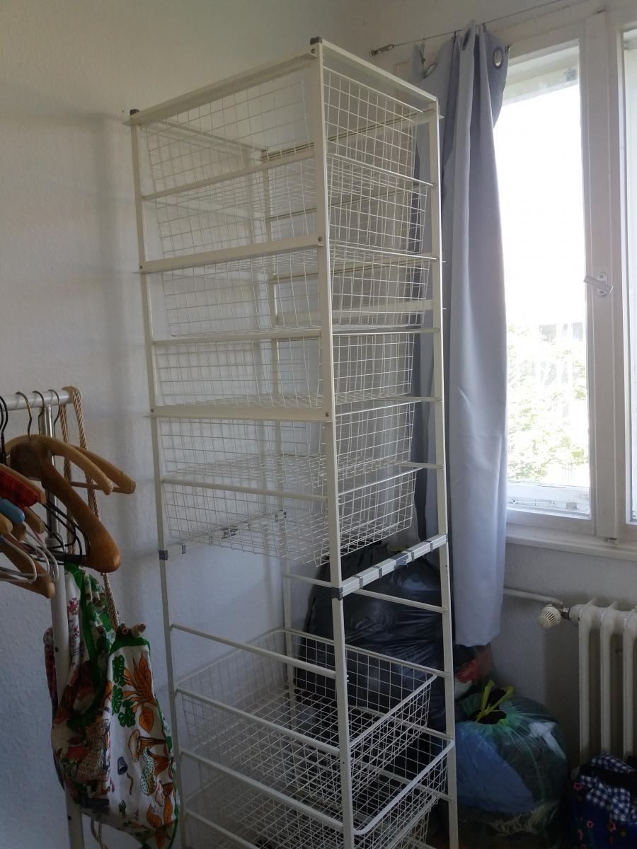 Ikea Kleiderschrank Modul Gitter Weiss Zu Verschenken In Berlin