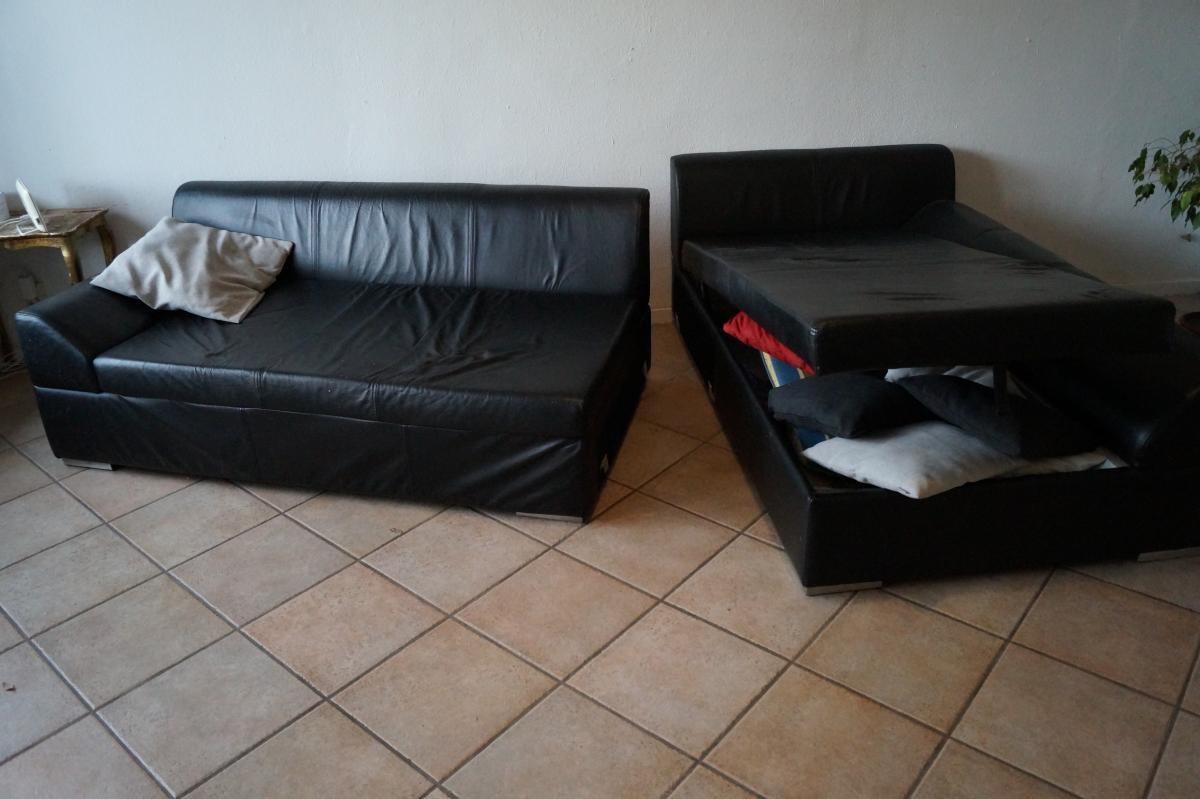 Entzuckend Zweiteiliges Sofa Mit Stauraum Zu Verschenken! 1