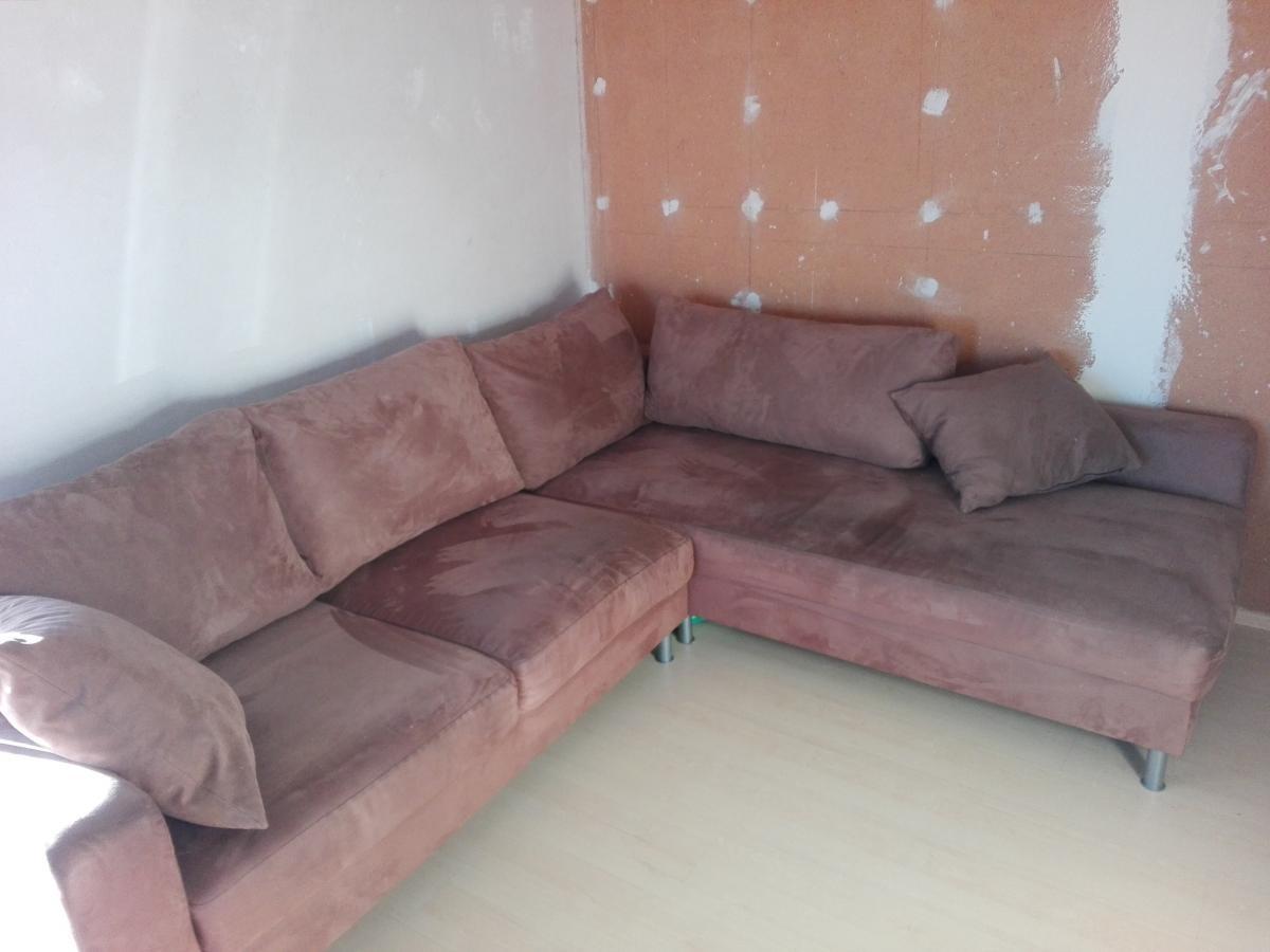 braune couch mit kissen zu verschenken in gro gerau free your stuff. Black Bedroom Furniture Sets. Home Design Ideas