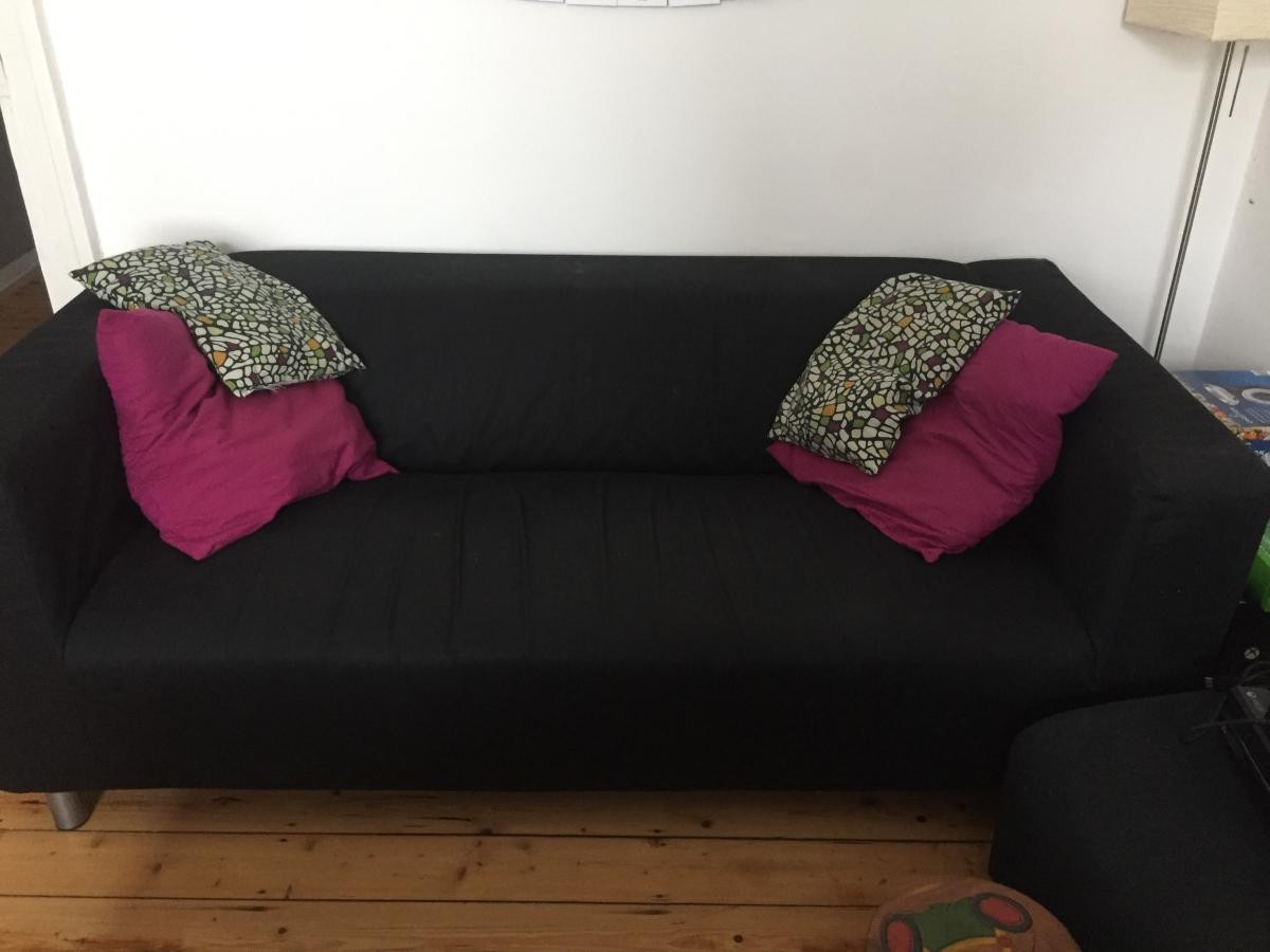 ikea sofa klippan schwarz zu verschenken in k ln free your stuff. Black Bedroom Furniture Sets. Home Design Ideas