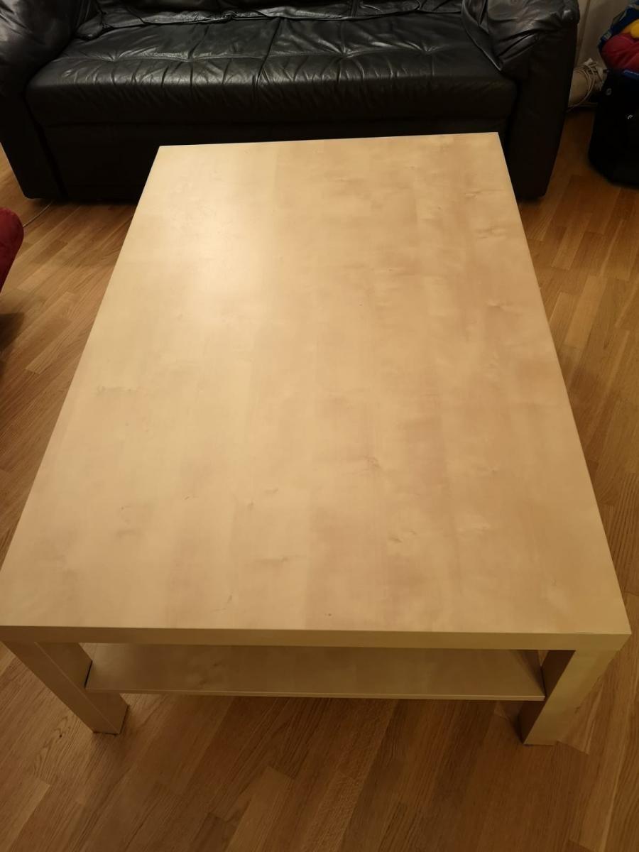 Ikea Lack Tisch Wohnzimmertisch Birke zu verschenken in ...