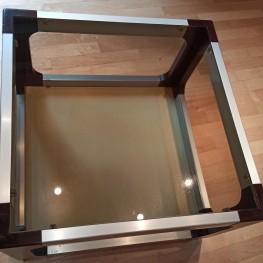 Rollbarer kleiner Glastisch / Couchtisch 1