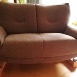 Graues 2-Sitzer Sofa