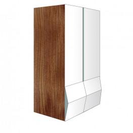 Designer-Kleiderschrank / Büroschrank – Einzelstück – Nussbaum