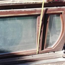 Holzfenster mit Oberlicht  1