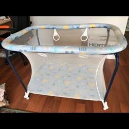 Baby Laufstall BREVI zusammenklappbar hellblau 1
