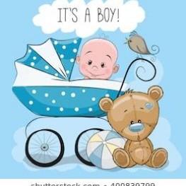 Babysachen für einen Jungen