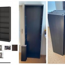 IKEA BILLY Regal braunschwarz mit 6 Brettern