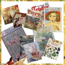 Alte Bücher mit vielen Bildern