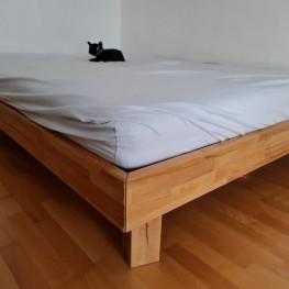 Bettgestell + Lattenrost aus Holz zu verschenken