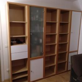 Wohnzimmer Regalwand Buche 213 x 241 x 44
