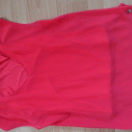rotes Blusentop, Shirt mit Chiffon, s.Oliver, Gr. 36