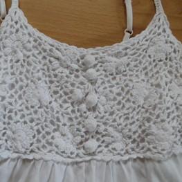 weißes Top mit Häkel-Details, Esprit, Gr. S 1