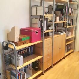 Ikea Niklas Regelsystem / Birke und silberchrom 1