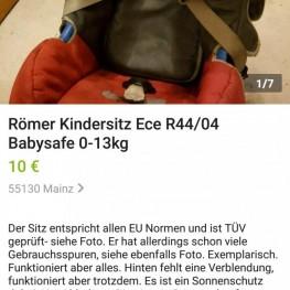 Babysafe Römer