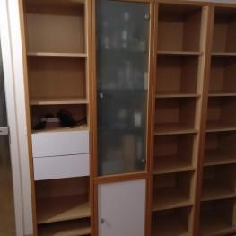 Wohnzimmer Regalwand Buche 213 x 241 x 44 2