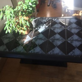 Geliebte schwarzer Holz-Fliesentisch zu verschenken in Bonn | Free Your Stuff @CY_27