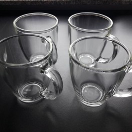 Teegläser/Kaffebecher, 4er Set, Glas