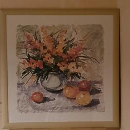 Bilderrahmen mit Blumenmotiv