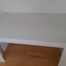 Weißer Tisch + Sitzbank 1