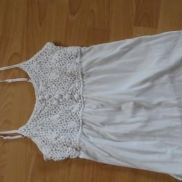 weißes Top mit Häkel-Details, Esprit, Gr. S