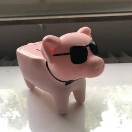 Geld Schwein mit LED anzeige