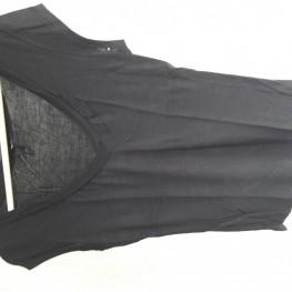 Schwarzes T-Shirt V-Ausschnitt 1