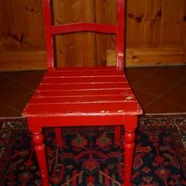 roter alter Stuhl